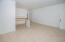 The open concept living area in condo B1