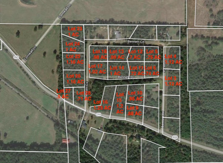 Large photo 1 of land for sale at  Bennett Orchard Estates Lots , London, AR, listed by Coldwell Banker Premier Realty