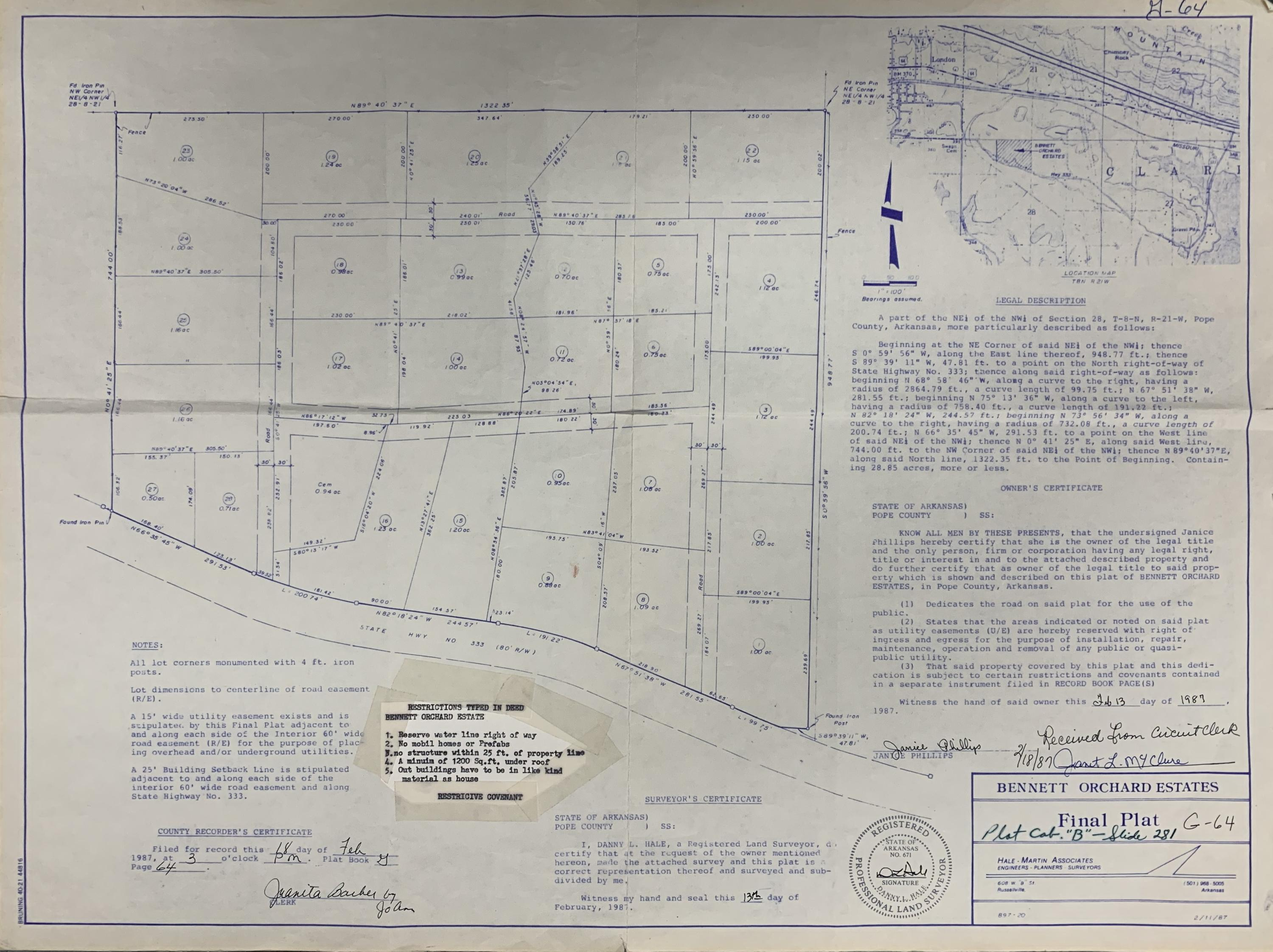 Large photo 6 of land for sale at  Bennett Orchard Estates Lots , London, AR, listed by Coldwell Banker Premier Realty