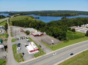 I-40 visability and Hwy 7 frontage, one of the highest traffic counts in Russellville. Class B beverage permit, established business, and just under 5000sqft building located on 1.7+/- acres.