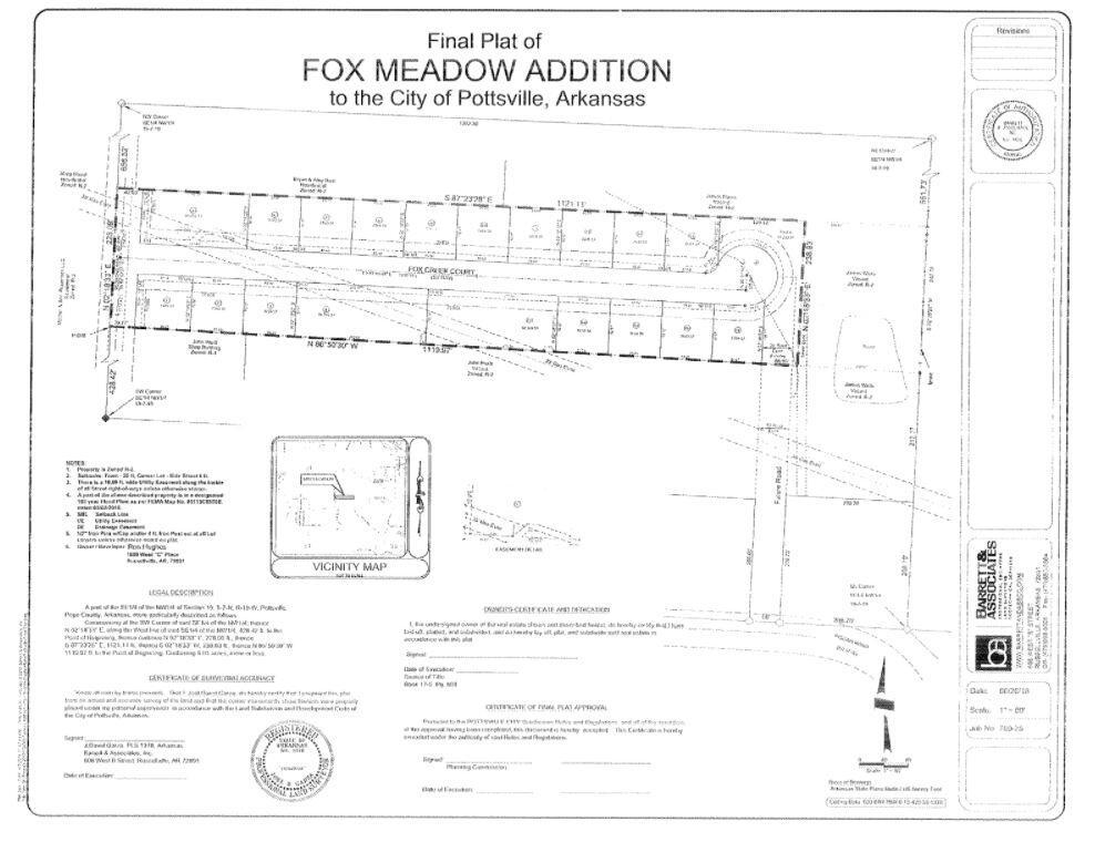 Fox Creek Court Plat