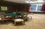 Upstairs game room