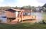 Double boat slip with floater, stationary and storage room