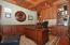 Coffered Ceiling Heavy Wood Paneling