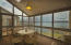 Sunroom with 360 degree view of the lake