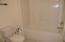 Upper Bath Tub and Toilet