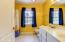 Dual Sinks, Ceramic Tile Floor