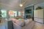 Beautiful living room with custom fireplace