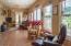 Sunroom with Tile Floors