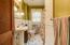 Full Bath with New tile floor