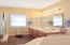 Master with walk-in shower and double sinks