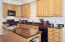 Kitchen has multiple work areas so you wont have a problem with multiple cooks in this kitchen!