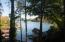 Lake view from backyard deck.