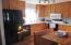 Kitchen with dishwasher,fridge,stove,microwave