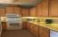 Kitchen recently updated with granite counter tops and tile backsplash