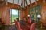 Cherry paneled dining room