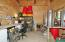 Work room in back of barn