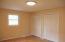 Double closets, fresh paint, new light fixture, new flooring