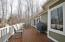 Large deck on entry level great for grilling and just enjoying the lake