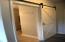 space saving barn door for the bathroom