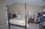 Master Bedroom with cathedral ceiing