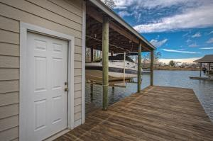 View out to the cove from the boat house