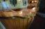 Wood top on bar