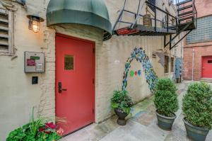 This entrance is accessible within a very short walk to covered parking garage. Loading an unloading area is available.
