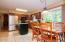 Lovely kitchen with stainless steel appliances and eat in area