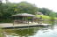 Nice dock with boat hoist, stationary dock and floater with swim steps, and good water depth
