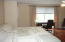 Master bedroom, very large with walkout to deck