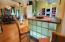 along with other features included when a home is custom-built like a lighted breakfast bar...