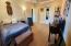 the spacious room settings.