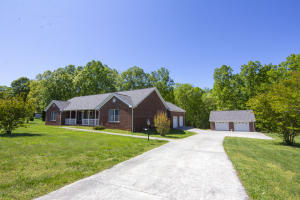 Front View - Maintenance Free Brick Ranch with Lake Access & Dock