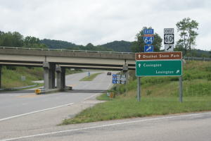 View from Exit 27 Rt.220/I 64 interchange