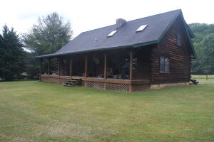 Front Log Home