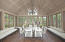 Formal dining room with views and sunshine