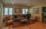 Family room closes off from main living area w pocket door