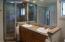 Remodeled Master Bathroom with steam shower
