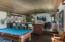 Recreation room on second level near kitchen