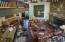 Great Room with mezzanine walkway overlooking