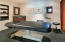 Massage room in spa area