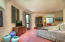 Circular guest suite