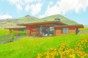 Rendering of proposed home design.