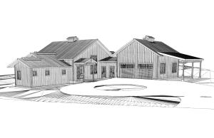 Rendering of potential home plans.