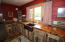 Kitchen with beautiful butcher block counter