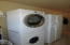 Stack washer and dryer plus storage