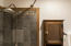 Detail - Bathroom, custom slate tiles and hardware