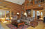 Great room, loft is master suite, & kitchen and dinning past the stairs.