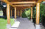 Covered walkway to home from garage